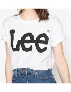 CAMISETA LEE LOGO TEE WHITE...